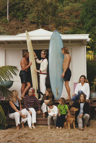 Group Of People Photograph - Laguna Beach by Slim Aarons