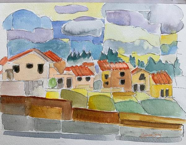 Painting - Laguna Del Sol Houses Design  by Suzanne Cerny