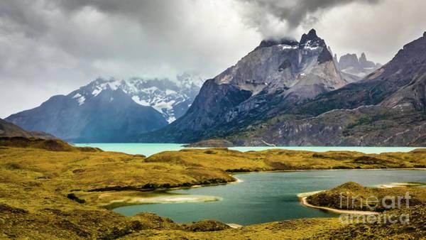 Photograph - Laguna Larga, Lago Nordernskjoeld, Cuernos Del Paine, Torres Del Paine, Chile by Lyl Dil Creations