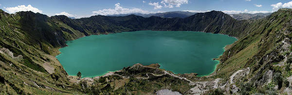Turquoise Lake Photograph - Laguna Quilotoa Panorama, Andes, Ecuador by Photography By Jessie Reeder