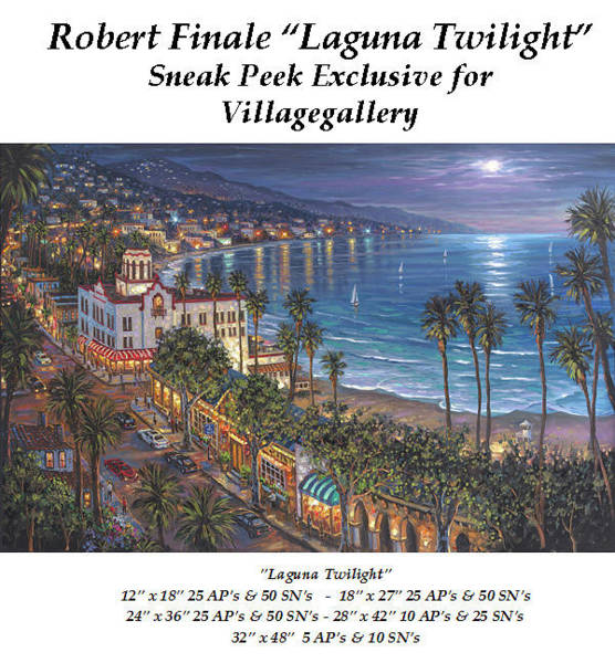 Laguna Beach Mixed Media - Laguna Twilight by Robert Finale
