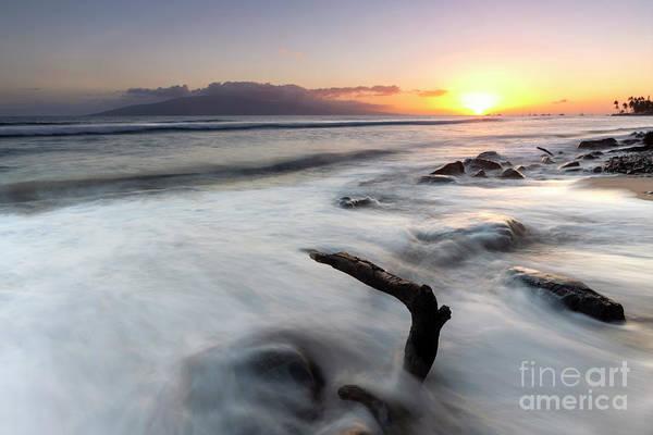 Wall Art - Photograph - Lahaina Beach Sundown by Mike Dawson