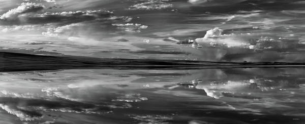Photograph - Lake Abert 11 Black And White by Leland D Howard