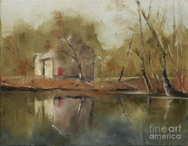 11x14 Painting - Lake Afton by Cindy Roesinger