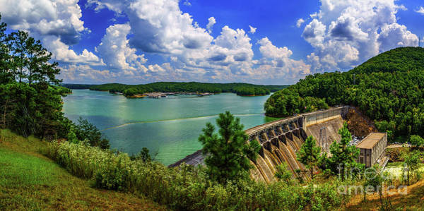 Lake Allatoona Dam Art Print