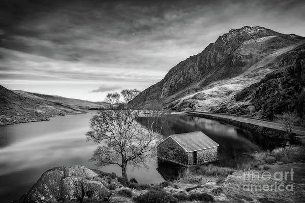 Wall Art - Photograph - Lake And Half Moon Snowdonia  by Adrian Evans