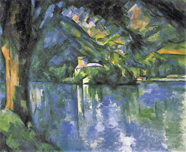 Wall Art - Painting - Lake Annecy by Paul Cezanne