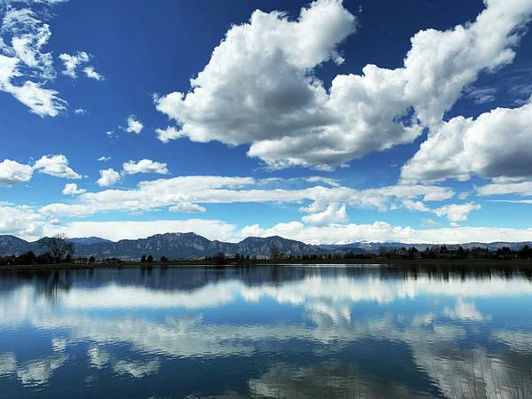 Photograph - Lake At Flatirons  by Marilyn Hunt