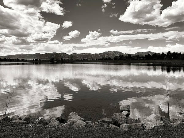 Photograph - Lake At Foothills Bw by Marilyn Hunt