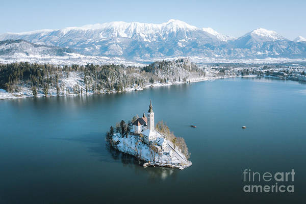 Wall Art - Photograph - Lake Bled Winter Wonderland by JR Photography