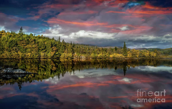 Wall Art - Photograph - Lake Bodgynydd Sunset by Adrian Evans