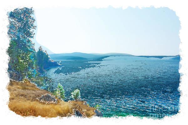 Digital Art - Lake Cda Digital Watercolor 1 by Matthew Nelson