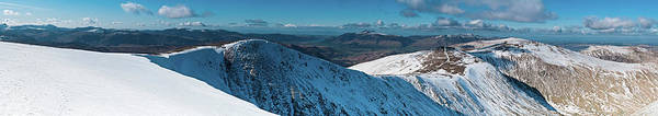 Ullswater Photograph - Lake District Winter Mountain Panorama by Fotovoyager