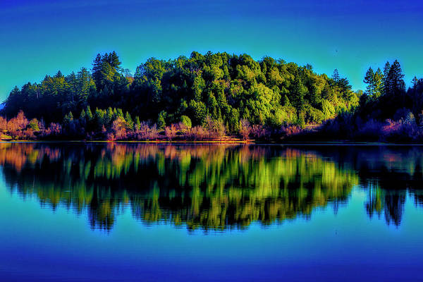 Photograph - Lake Double Reflection by Garry Gay