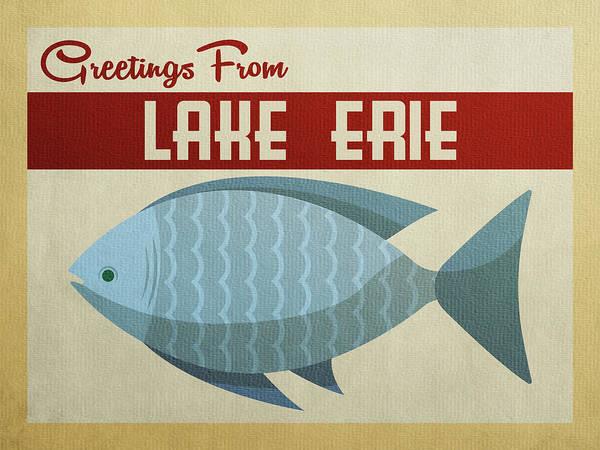 Great Lakes Digital Art - Lake Erie Blue Fish by Flo Karp