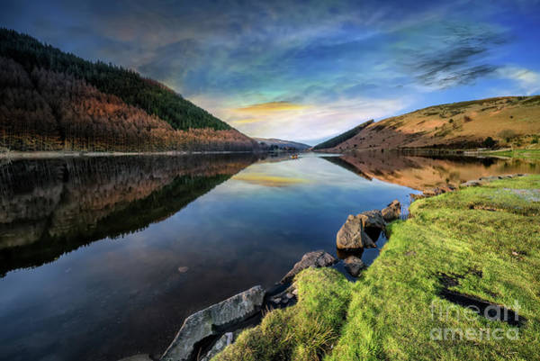 Wall Art - Photograph - Lake Geirionydd Sunset by Adrian Evans