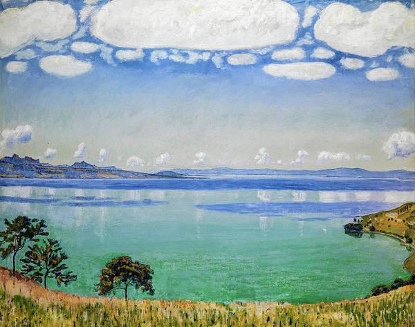 Wall Art - Painting - Lake Geneva, Seen From Chexbres, 1905 by Ferdinand Hodler