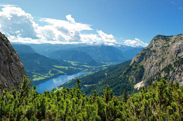 Wall Art - Photograph - Lake Grundlsee  With Mt. Dachstein And by Guenterguni