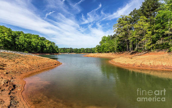 Photograph - Drought-stricken Lake Hartwell by Bernd Laeschke