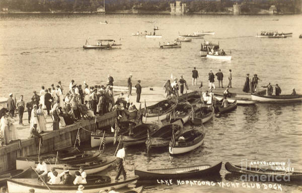 Photograph - Lake Hopatcong Yacht Club Dock - 1910 by Mark Miller