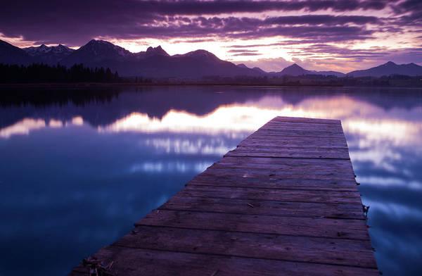 Jetty Photograph - Lake Hopfensee by Wingmar