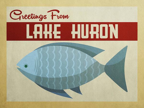 Huron Wall Art - Digital Art - Lake Huron Blue Fish by Flo Karp