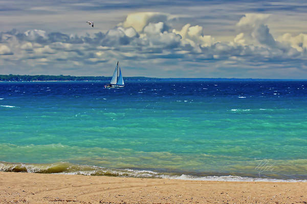 Photograph - Lake Huron Sailboat by Meta Gatschenberger
