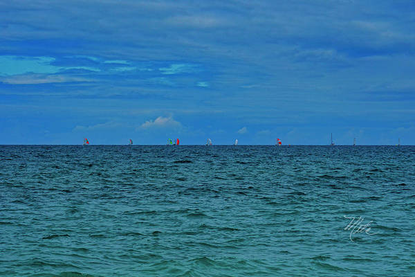 Photograph - Lake Huron Sailboats by Meta Gatschenberger