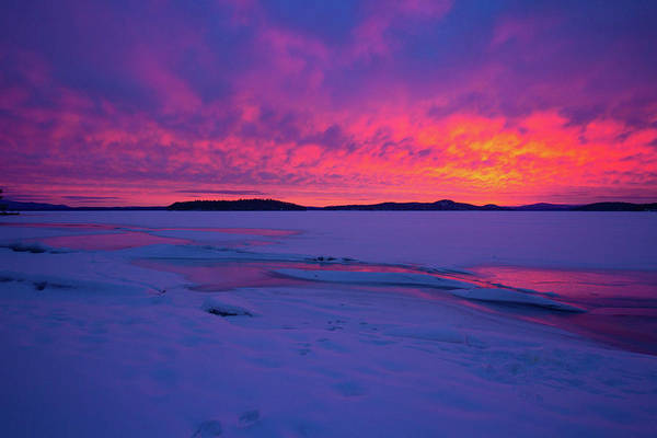 Photograph - Lake Ice Sunrise by Robert Clifford