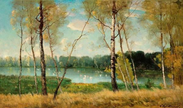 Wall Art - Painting - Lake In Ermenoville by Antonin Chittussi