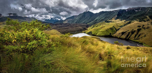 Wall Art - Photograph - Lake In Mountains, Condor Trek, Ecuador by Miguel Carvallo