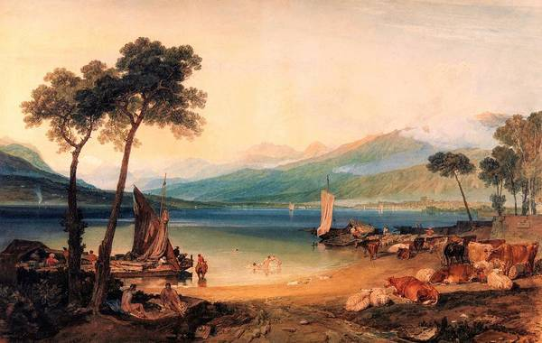 Wall Art - Painting - Lake Leman And Mont Blanc - Digital Remastered Edition by William Turner