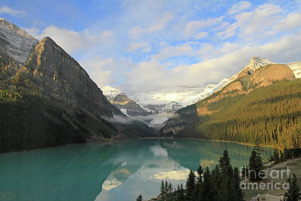 Photograph - Lake Louise At Dawn by Paula Guttilla