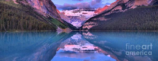 Wall Art - Photograph - Lake Louise Extra Wide Sunrise Panorama by Adam Jewell