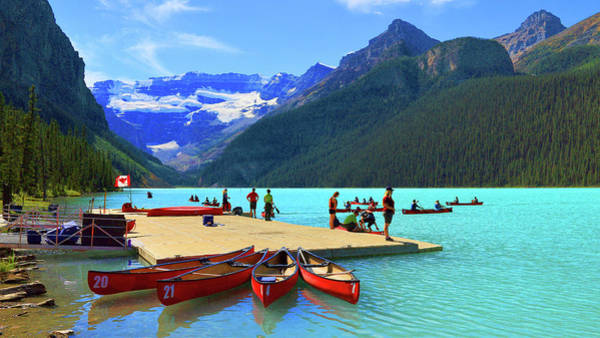 Photograph - Lake Louise In Alberta Canada by Ola Allen