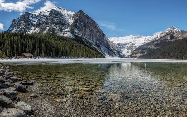 Photograph - Lake Louise, Mid May, Late Morning by Belinda Greb