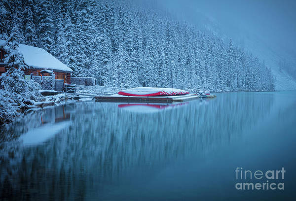 Wall Art - Photograph - Lake Louise Misty Winter Morning by Inge Johnsson