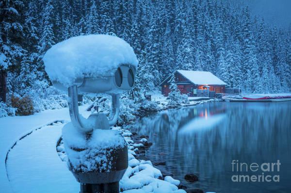Canadian Rocky Mountains Photograph - Lake Louise Winter Morning by Inge Johnsson