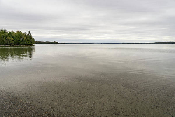 Photograph - Lake Manitou - Soft Grays And Khakis With A Hint Of Green by Georgia Mizuleva