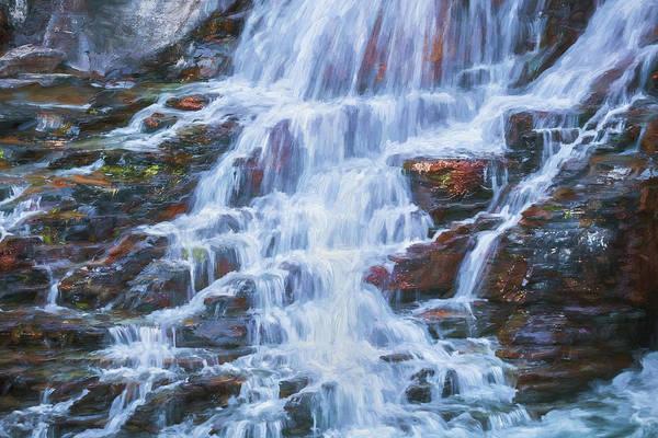 Wall Art - Photograph - Lake Mcdonald Falls Glacier National Park 104 by Rich Franco