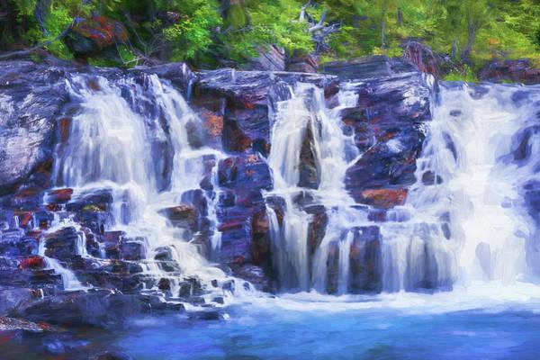 Wall Art - Photograph - Lake Mcdonald Falls Glacier National Park 106 by Rich Franco