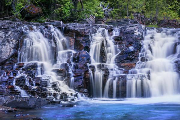 Wall Art - Photograph - Lake Mcdonald Falls Glacier National Park 107 by Rich Franco