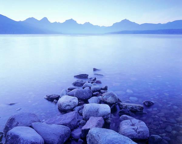 Bleached Photograph - Lake Mcdonald, Glacier Np, Montana by Walter Bibikow