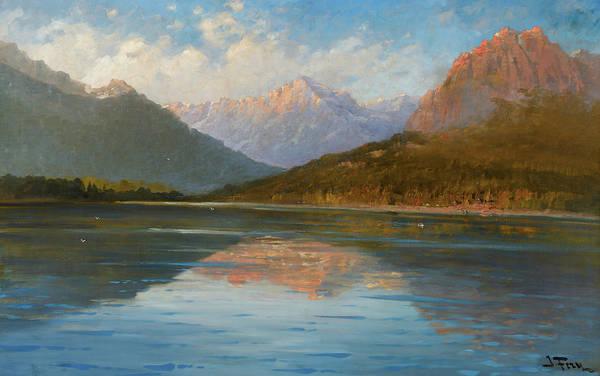 Wall Art - Painting - Lake Mcdonald by John Fery