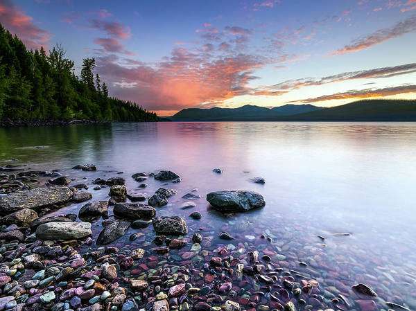 Photograph - Lake Mcdonald Sunset by Jake Sorensen