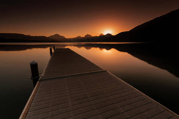 Photograph - Lake Mcdonald Wake Up Call by Mark Kiver