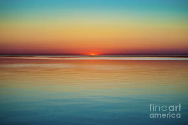 Wall Art - Photograph - Lake Michigan At Sunset, Milwaukee by Bob Israel