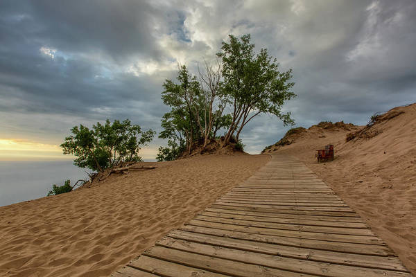 Drive Wall Art - Photograph - Lake Michigan Overlook 4 by Heather Kenward