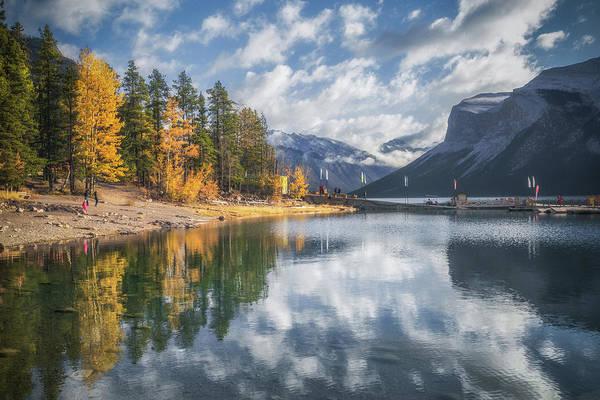 Banff National Park Wall Art - Photograph - Lake Miniwanka by Chris Fletcher