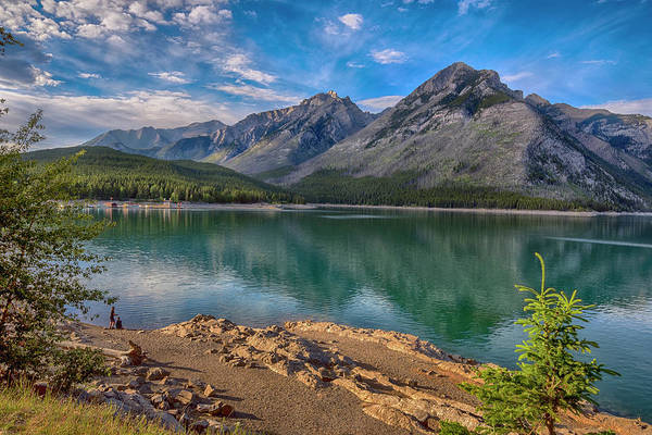 Wall Art - Photograph - Lake Minnewanka In The Canadian Rockies by Dave Dilli